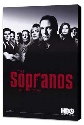 The Sopranos - 27 x 40 TV Poster - Style A - Museum Wrapped Canvas