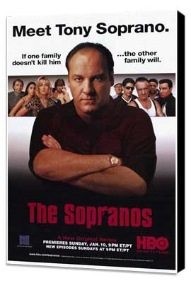 The Sopranos - 27 x 40 TV Poster - Style B - Museum Wrapped Canvas