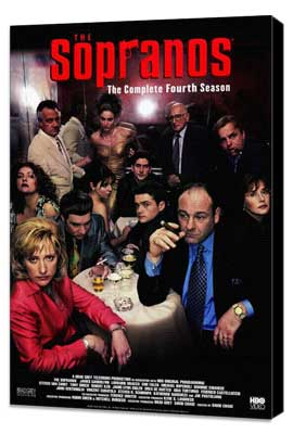 The Sopranos - 27 x 40 TV Poster - Style C - Museum Wrapped Canvas
