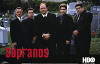 The Sopranos - 11 x 17 TV Poster - Style E - in Deluxe Wood Frame