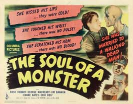 The Soul of a Monster - 22 x 28 Movie Poster - Half Sheet Style A