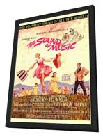 The Sound of Music - 27 x 40 Movie Poster - Style A - in Deluxe Wood Frame