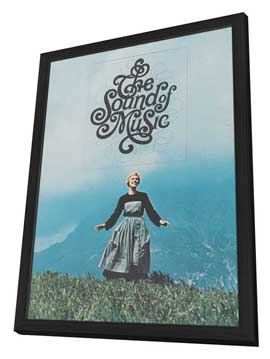 The Sound of Music - 11 x 17 Movie Poster - Style E - in Deluxe Wood Frame