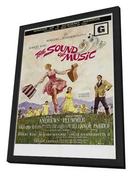 The Sound of Music - 27 x 40 Movie Poster - Style B - in Deluxe Wood Frame