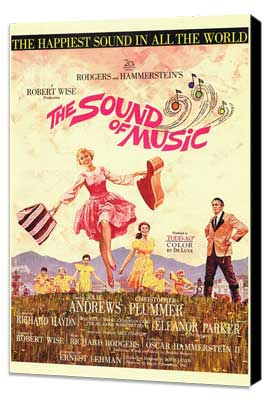 The Sound of Music - 27 x 40 Movie Poster - Style A - Museum Wrapped Canvas