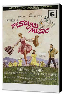 The Sound of Music - 27 x 40 Movie Poster - Style B - Museum Wrapped Canvas