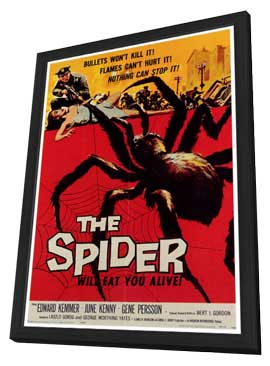 The Spider - 27 x 40 Movie Poster - Style A - in Deluxe Wood Frame