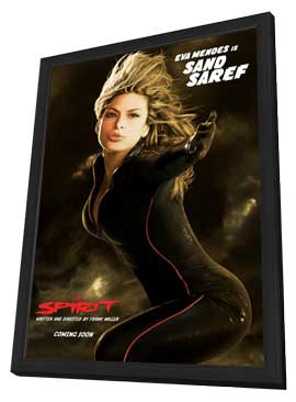 The Spirit - 11 x 17 Movie Poster - Style E - in Deluxe Wood Frame