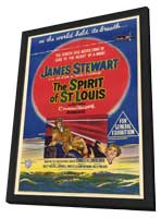 The Spirit of St. Louis - 27 x 40 Movie Poster - Style C - in Deluxe Wood Frame