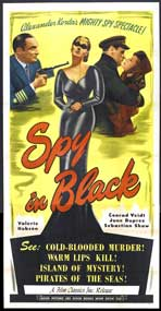 The Spy in Black - 20 x 40 Movie Poster - Style A