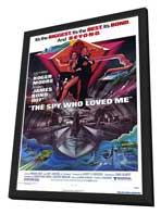 The Spy Who Loved Me - 27 x 40 Movie Poster - Style A - in Deluxe Wood Frame