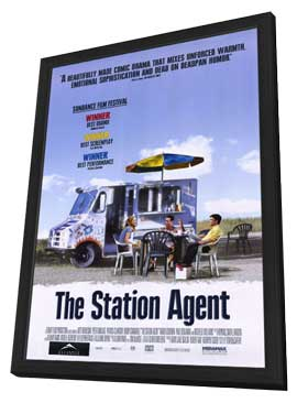 The Station Agent - 11 x 17 Movie Poster - Style A - in Deluxe Wood Frame