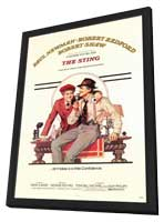 The Sting - 27 x 40 Movie Poster - Style A - in Deluxe Wood Frame