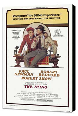 The Sting - 27 x 40 Movie Poster - Style A - Museum Wrapped Canvas