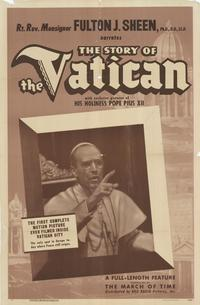The Story of the Vatican - 27 x 40 Movie Poster - Style A