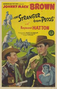 The Stranger From Pecos - 11 x 17 Movie Poster - Style A
