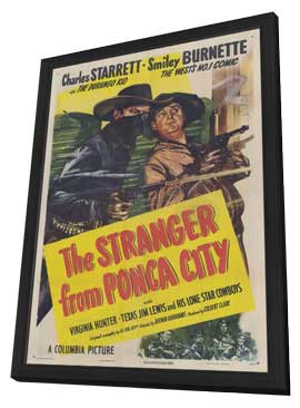 The Stranger from Ponca City - 27 x 40 Movie Poster - Style A - in Deluxe Wood Frame
