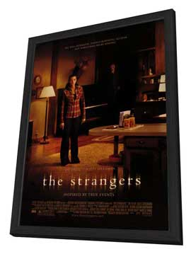 The Strangers - 27 x 40 Movie Poster - Style B - in Deluxe Wood Frame