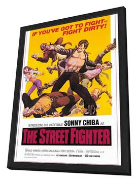 The Street Fighter - 27 x 40 Movie Poster - Style A - in Deluxe Wood Frame