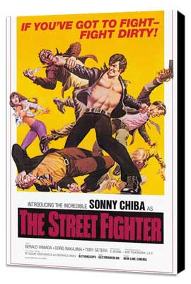 The Street Fighter - 27 x 40 Movie Poster - Style A - Museum Wrapped Canvas