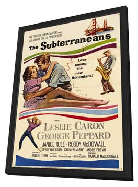 The Subterraneans - 11 x 17 Movie Poster - Style A - in Deluxe Wood Frame
