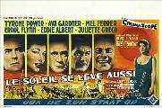 The Sun Also Rises - 27 x 40 Movie Poster - Belgian Style A