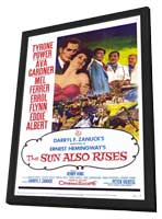 The Sun Also Rises - 11 x 17 Movie Poster - Style A - in Deluxe Wood Frame