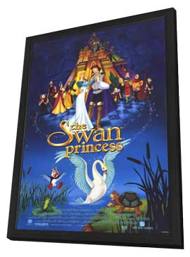 The Swan Princess - 11 x 17 Movie Poster - Style C - in Deluxe Wood Frame
