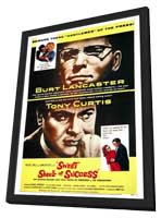 The Sweet Smell of Success - 27 x 40 Movie Poster - Style A - in Deluxe Wood Frame