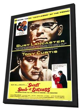 The Sweet Smell of Success - 11 x 17 Movie Poster - Style A - in Deluxe Wood Frame