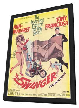 The Swinger - 11 x 17 Movie Poster - Style A - in Deluxe Wood Frame