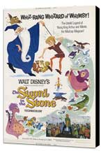 Sword in the Stone, The - 11 x 17 Movie Poster - Style D - Museum Wrapped Canvas