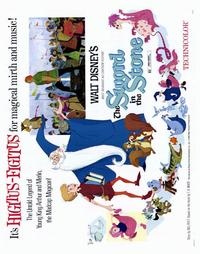 Sword in the Stone, The - 22 x 28 Movie Poster - Half Sheet Style A