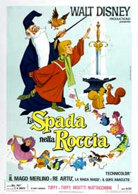 Sword in the Stone, The - 27 x 40 Movie Poster - Italian Style B