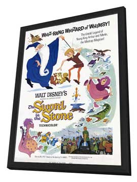 Sword in the Stone, The - 27 x 40 Movie Poster - Style A - in Deluxe Wood Frame