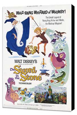 Sword in the Stone, The - 27 x 40 Movie Poster - Style A - Museum Wrapped Canvas