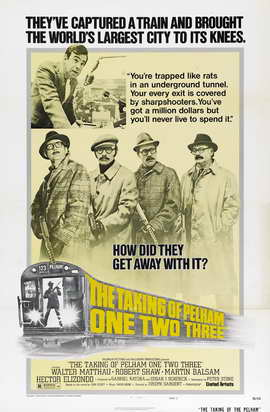 The Taking of Pelham One Two Three - 27 x 40 Movie Poster - Style D