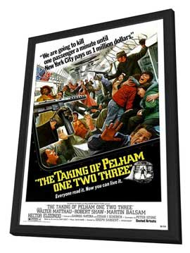 The Taking of Pelham One Two Three - 27 x 40 Movie Poster - Style C - in Deluxe Wood Frame