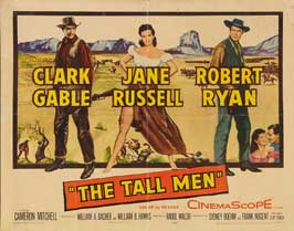 The Tall Men - 22 x 28 Movie Poster - Half Sheet Style A