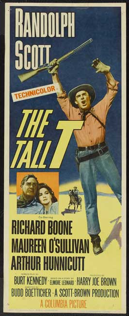 The Tall T - 14 x 36 Movie Poster - Insert Style A