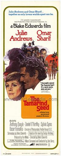 The Tamarind Seed - 14 x 36 Movie Poster - Insert Style A