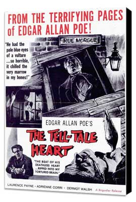The Tell-Tale Heart - 11 x 17 Movie Poster - Style A - Museum Wrapped Canvas
