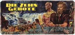 The Ten Commandments - 11 x 17 Movie Poster - German Style C