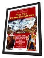 The Ten Commandments - 11 x 17 Movie Poster - Style B - in Deluxe Wood Frame