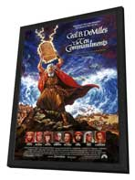 The Ten Commandments - 11 x 17 Movie Poster - Style D - in Deluxe Wood Frame