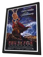 The Ten Commandments - 27 x 40 Movie Poster - Style A - in Deluxe Wood Frame
