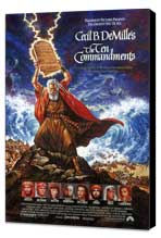 The Ten Commandments - 11 x 17 Movie Poster - Style D - Museum Wrapped Canvas