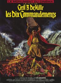 The Ten Commandments - 11 x 17 Movie Poster - French Style A