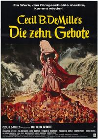 The Ten Commandments - 11 x 17 Movie Poster - German Style A