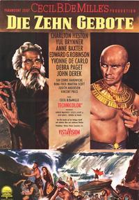 The Ten Commandments - 11 x 17 Movie Poster - German Style B
